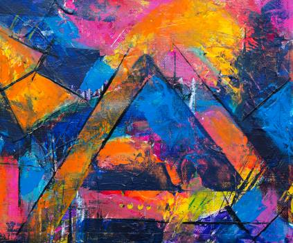 Photo of Abstract Painting Free Photo