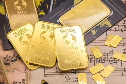 Gold Global Plates Free Photo
