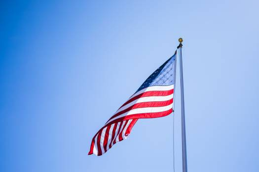 Close-Up Photography of American Flag Free Photo