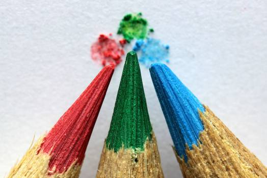 Macro Photo of Color Pencil Tips Free Photo