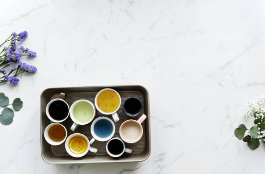 Nine White Ceramic Mugs #341250