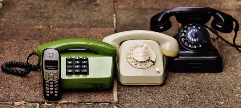 Black Rotary Phone Free Photo