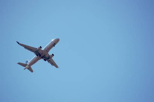 White Airliner Free Photo