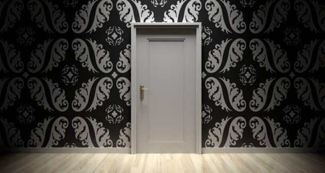White Wooden Door Free Photo
