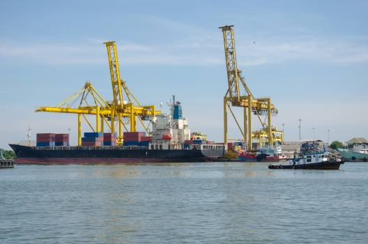 Ship With Container Vans Free Photo