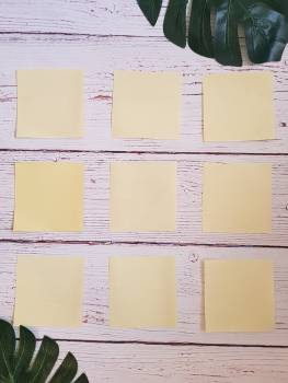 Yellow Sticky Notes Free Photo