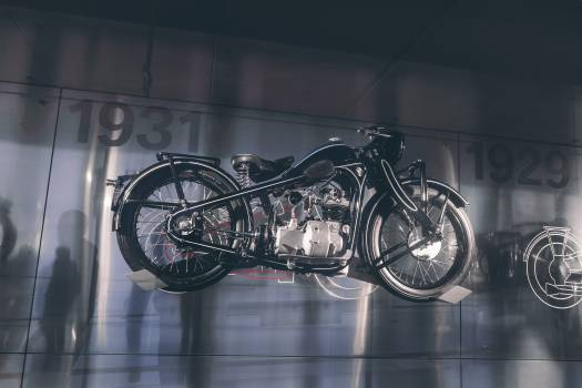 Black and Gray Motorcycle Scale Model Free Photo