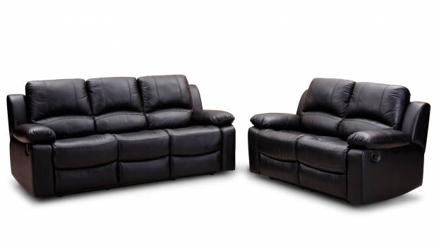 Black Leather Padded Cushion Couch Near to Black Leather Padded Cushion Loveseat #341979