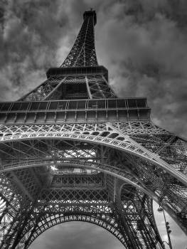Grayscale Photography of Eiffel Tower Free Photo