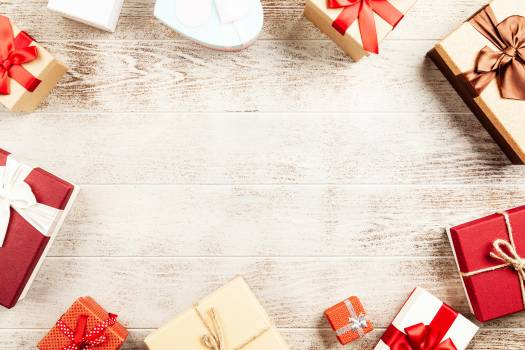 Flat-lay Photography of Present Boxes #342128