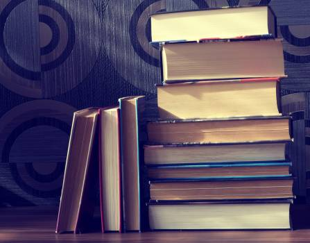 Assorted Books on Brown Surface #342224