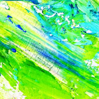 Green and White Abstract Painting #342243
