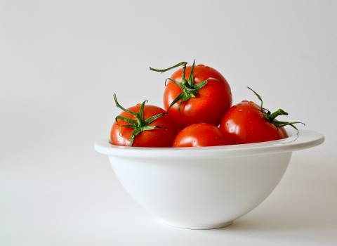 Red Tomatoes in White Bowl Free Photo