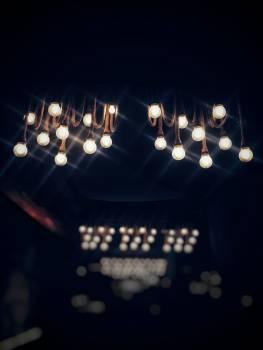 Lighted Bulbs Free Photo