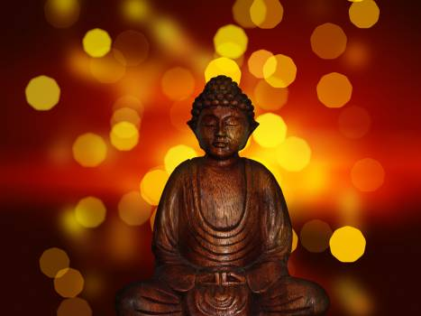Relaxation sitting reflection statue Free Photo