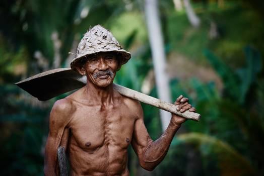 Old man person farmer Free Photo