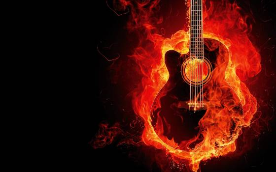 Fire flames guitar #34426