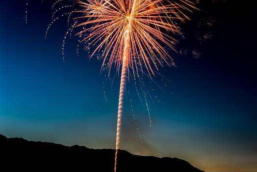 Yellow Fireworks Display during Nigh Time #34434