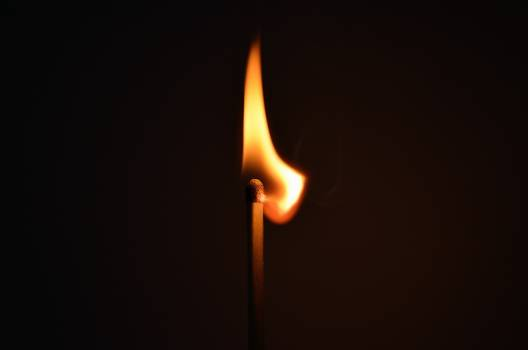Lighted Burning Match Free Photo