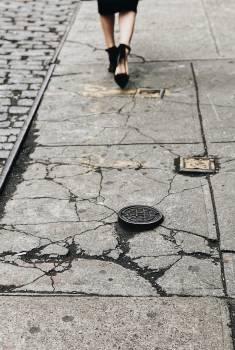 Hole Manhole cover Sidewalk Free Photo