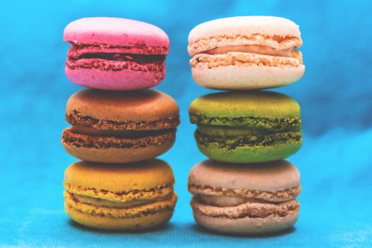 Pile of Assorted Flavored Macaroons #34651