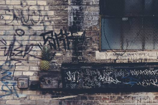 City graffiti dirty building #34679