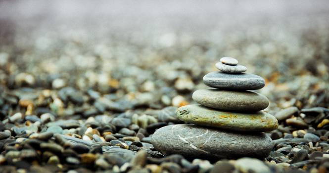 Stack Pebbles on the Ground #34690