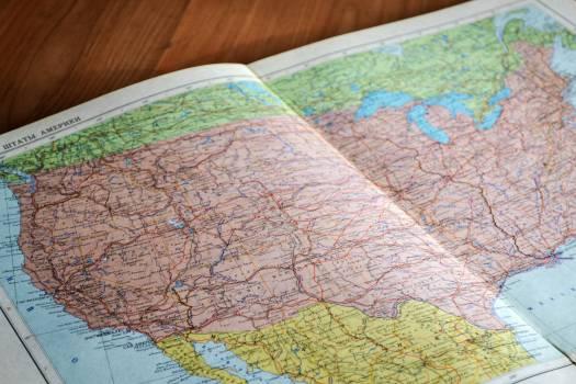 Map maps american book #34757