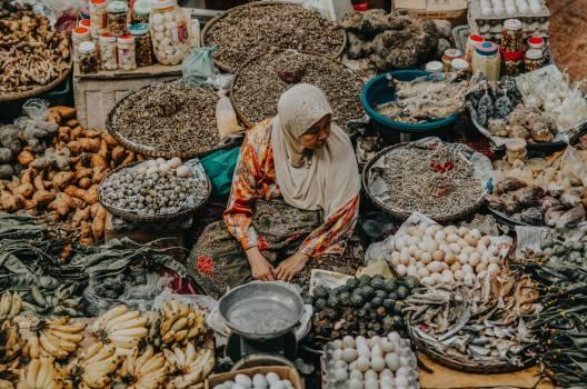 Seller Food Stall Free Photo