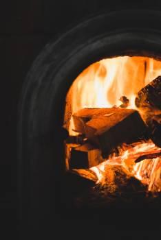 Fireplace Fire Lantern Free Photo