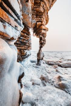 Sea Ice Rock #349848