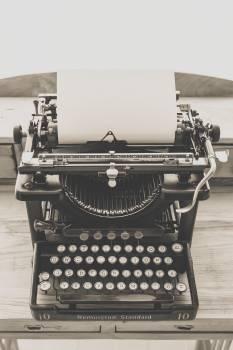 Black Vintage Typewriter Free Photo