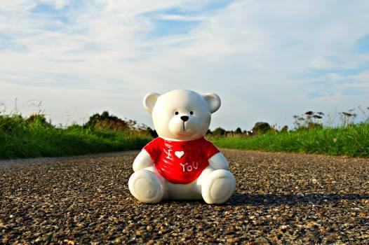 Bear ceramic bear ceramic figure grass Free Photo