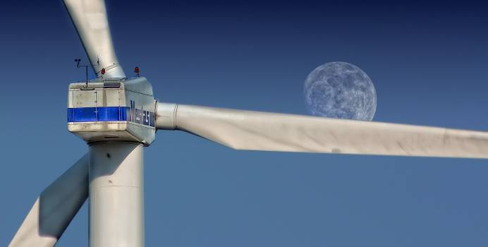 Sky moon pinwheel wind power #35312