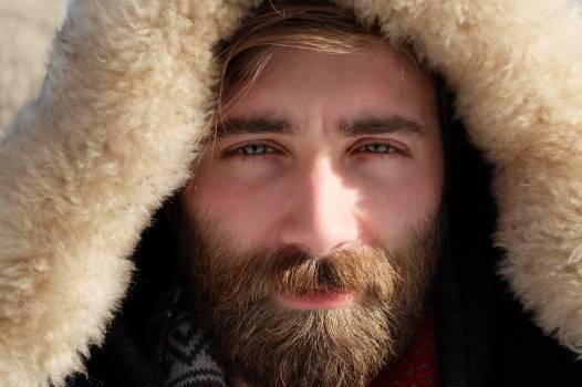 Man Wearing Fur Hoodie #35358