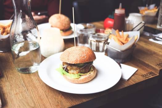 Food on Plates on Table #35407
