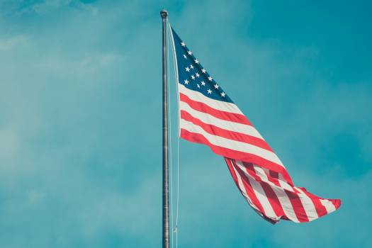 Usa flag star spangled banner Free Photo