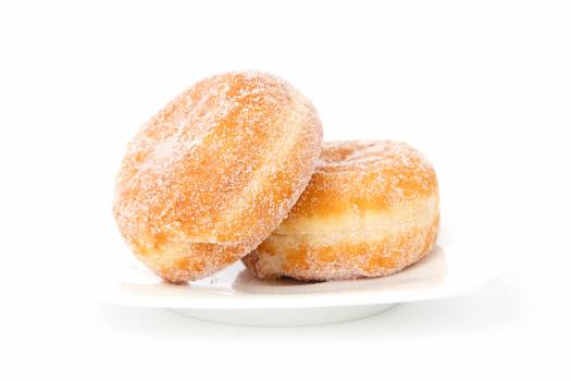 Two Creme Filled Donuts #35629