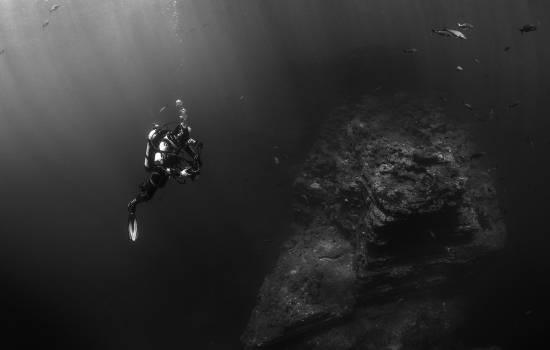 Sea black and white ocean photographer Free Photo