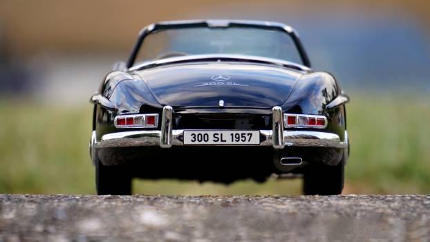 Mercedes Benz Black Convertible Classic Car #35735