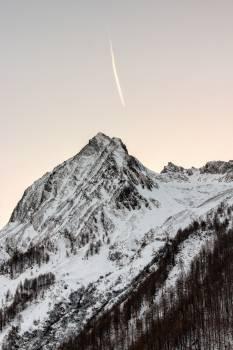 Mountain Snow Landscape Free Photo