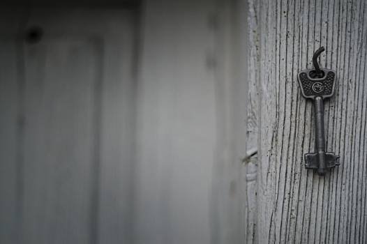 Selective Photography of Skeleton Key Hanging Free Photo