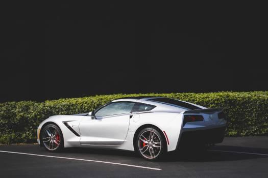 White Coupe Car Near Green Grass #36056