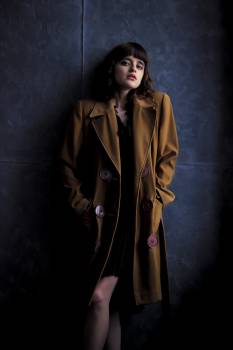 Woman Wearingbrown Trench Coat Free Photo