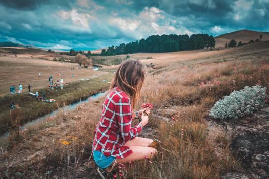 Grass Person Rustic Free Photo