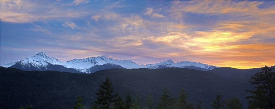 Snowcap Mountain Panorama #36406