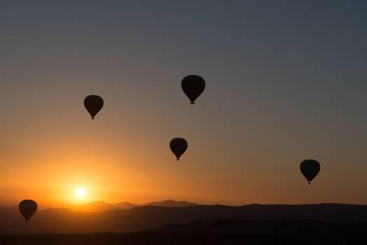 Balloons dawn dusk flying #36421