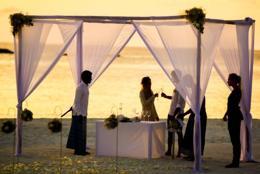 Beach Wedding during Sunset #36467
