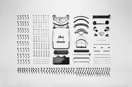 Technology typewriter items collection #36622