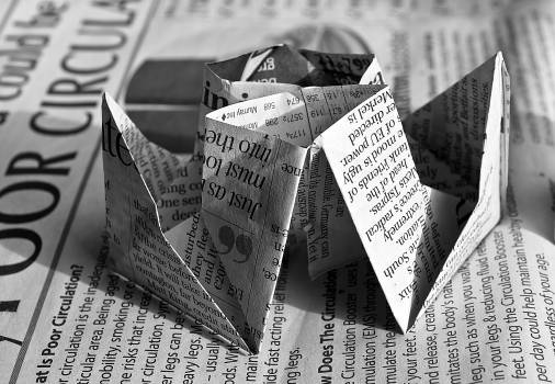 Newspaper Origami #36635